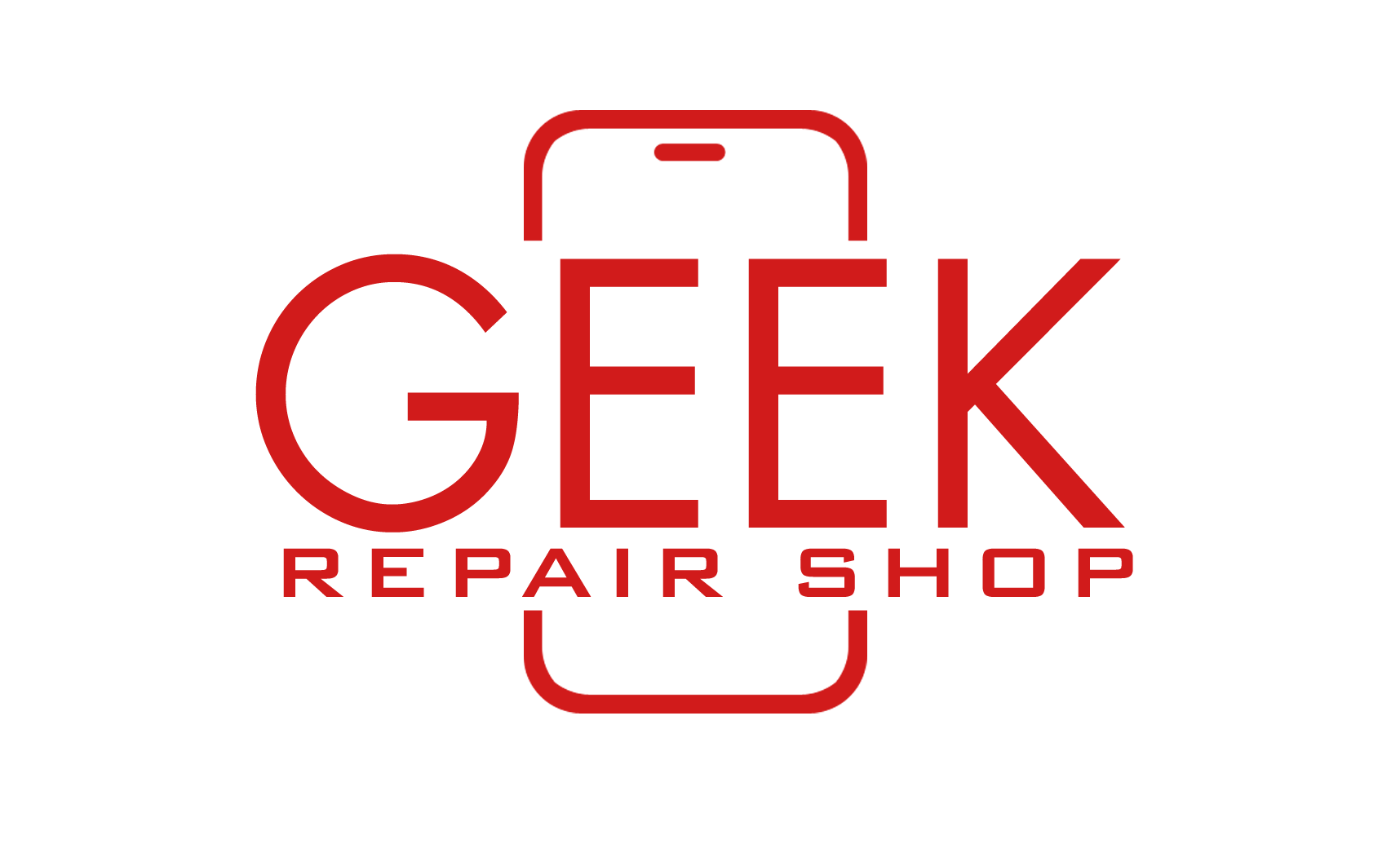 geek repair shop logo